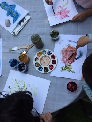 Eco-friendly ink/paint making with edible materials